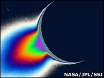Plumes on Enceladus (Nasa)