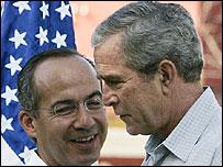 Calderón y Bush en México