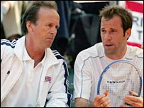 John Lloyd and Greg Rusedski