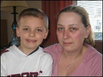 Dawn Furniss and her son Michael