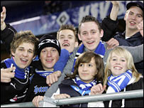 Standing is central to German football culture, especially with the young
