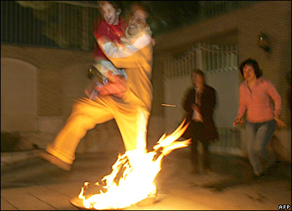 Fire jumping in Iran
