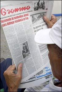 Lector del diario Granma