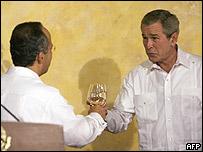 Felipe Calderón y George W. Bush