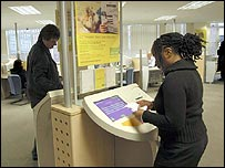 Jobseekers looking for vacancies