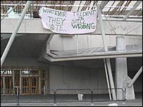 Scottish Parliament protest