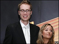 Stephen Merchant and partner