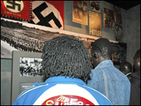 Sudanese refugees visit the Holocaust History Museum at Yad Vashem