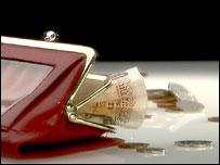 Cash in a purse