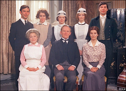 The 1974 cast of Upstairs, Downstairs