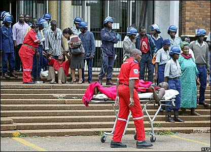 Opposition activists are taken to hospital after appearing at a Harare court