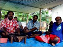 Bati men sharing kava