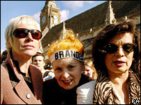 Annie Lennox, Vivienne Westwood and Bianca Jagger