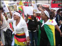 Dancers at an MDC rally