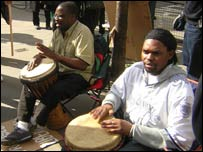 Drummers at an MDC rally