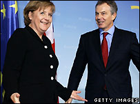 Angela Merkel and Tony Blair