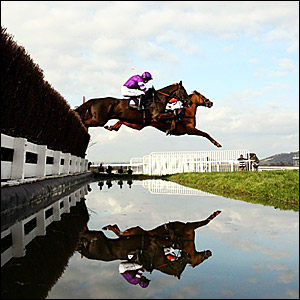 Denman jumps the water
