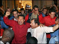 Hugo Chavez y Daniel Ortega