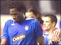 Ugo Ehiogu and Nacho Novo show their disappointment at defeat