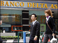 A branch of Banco Delta Asia in Macau