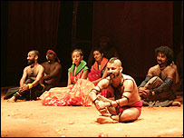 Indian performers in 'A Midsummer Night's Dream'