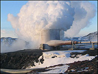 A geothermal field in Iceland