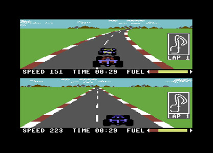 Pitstop 2 game for the Commodore 64