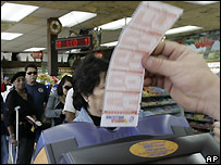 Lottery ticket being sold - file photo