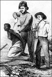 Marcaci�n a hierro de una esclava en Colombia (Gentileza: Archivo General de la Naci�n de Colombia)