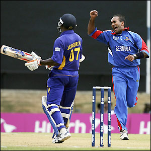 Mukuddem celebrates his wicket