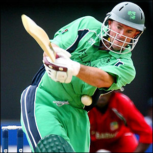 Jeremy Bray scores a 50 for Ireland