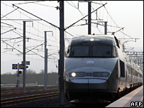 The new TGV-Est arrives in Louvigny, eastern France