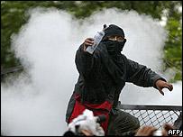 Un manifestante anti-Bush en México