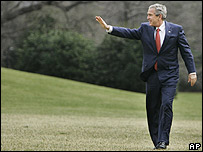 George W. Bush a su llegada a Washington