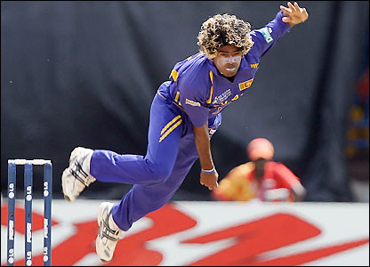 Lasith Malinga takes three wickets in a devasting opening spell