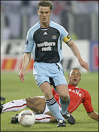Newcastle midfielder and captain Scott Parker