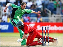Ireland's Andrew White and Zimbabwe's Ed Rainsford