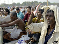 Farmers attending a Communist rally in West Bengal