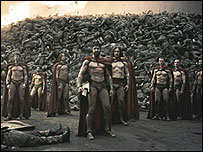 Scene from 300, courtesy of Warner Brothers