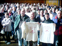 Airbus workers protest at Chester town hall