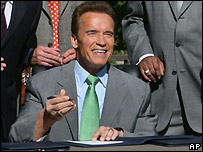 California Gov Arnold Schwarzenegger authorises primary move