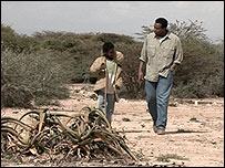 Rageh Omaar filming in Somaliland