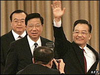 Chinese Premier Wen Jiabao on March 16, 2007