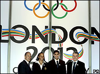 British Olympic stars promoting the London games