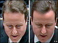 David Cameron before and after