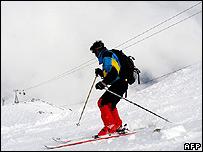 Skier in Kashmir. File photo