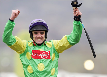 Ruby Walsh celebrates