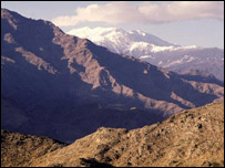 The mountains of Hindu Kush