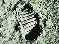 Footprint from Apollo 11 mission to the Moon (Image: AP)
