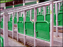 The terraces at Werder Bremen